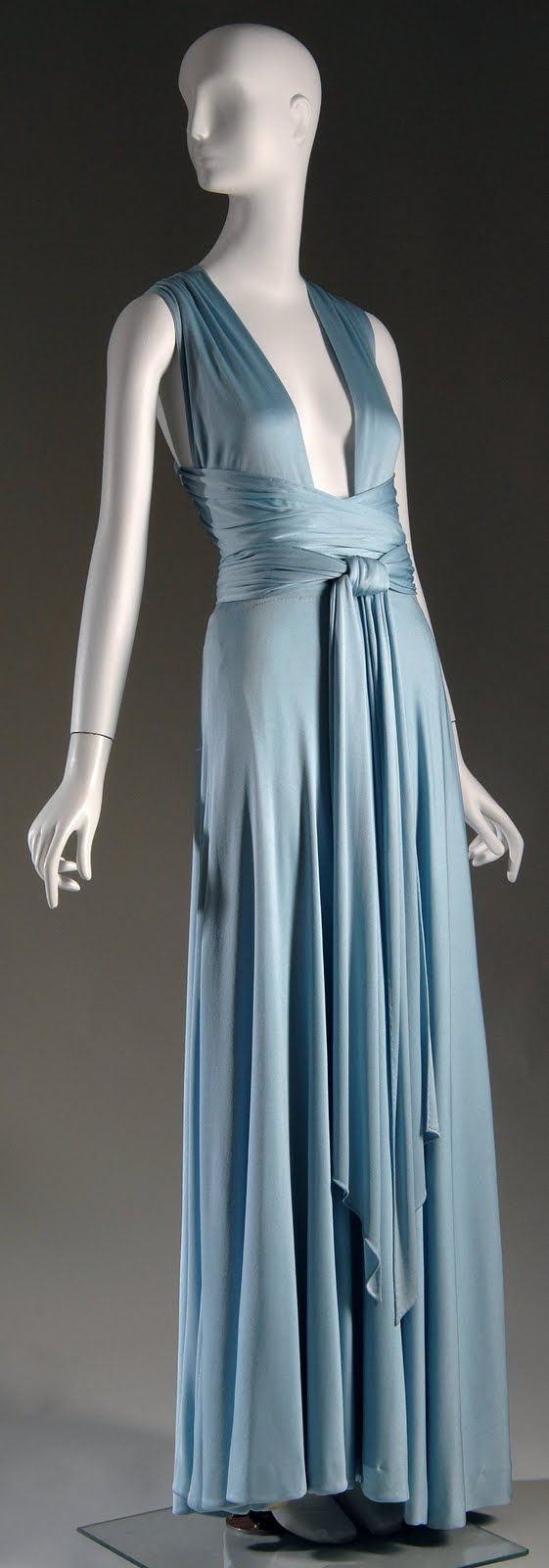 Halston evening dress is from 1972
