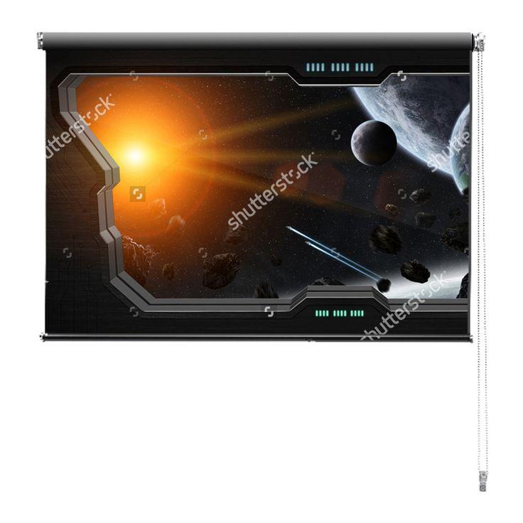 Rolgordijn Space station | De rolgordijnen van YouPri zijn iets heel bijzonders! Maak keuze uit een verduisterend of een lichtdoorlatend rolgordijn. Inclusief ophangmechanisme voor wand of plafond! #rolgordijn #gordijn #lichtdoorlatend #verduisterend #goedkoop #voordelig #polyester #sciencefiction #scifi #sf #science #fiction #ruimte #ruimtestation #zon #buitenaards #heelal #starwars #star #wars #jongenskamer #jongen