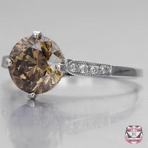 2.03ct Fancy Dia Engagement Ring
