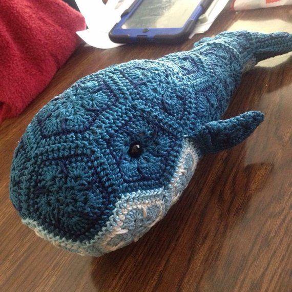 Custom Handmade African Flower Whale