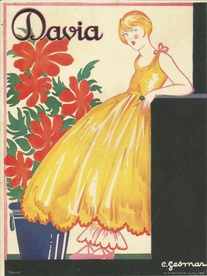 "original art deco print "" poster "" 1927 france3 davia german"