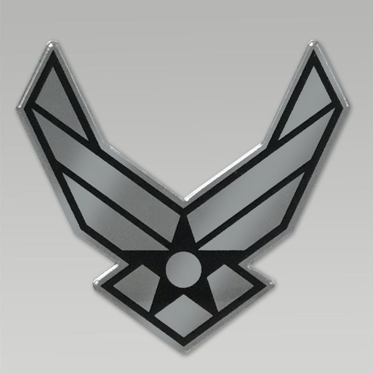 "Give your car an added value with this great Air Force Wings Chrome Emblem! &nbsp  Made in the U.S.A. Size: 4"" tall by 3"" wide Air Force Wings Chrome emblem To apply peel protective tap from foam adhesive back and apply auto emblem with firm pressure to clean dry area Be careful with application as the adhesive is designed to last for years throughout extreme temperatures and or car washes"
