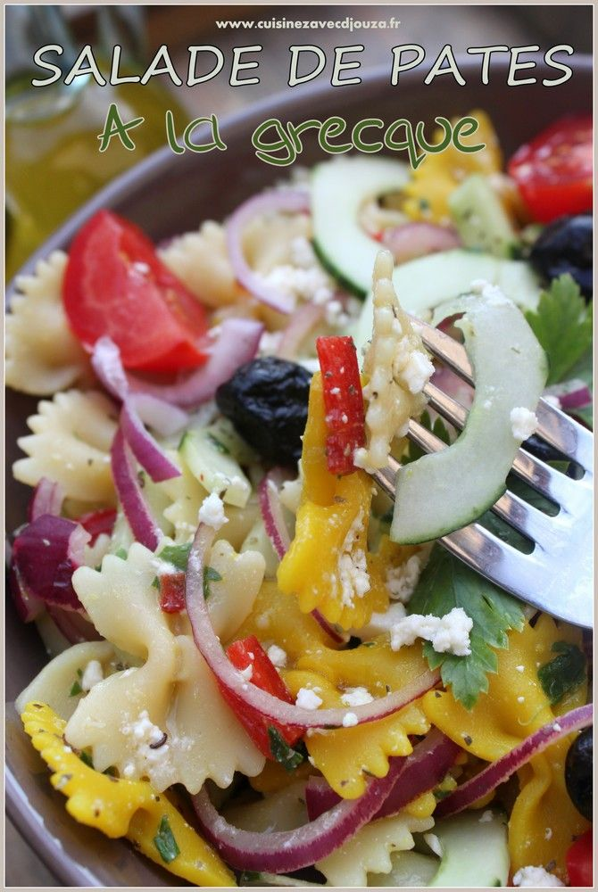 les 25 meilleures id 233 es concernant salade de pate grecque sur salades de pates
