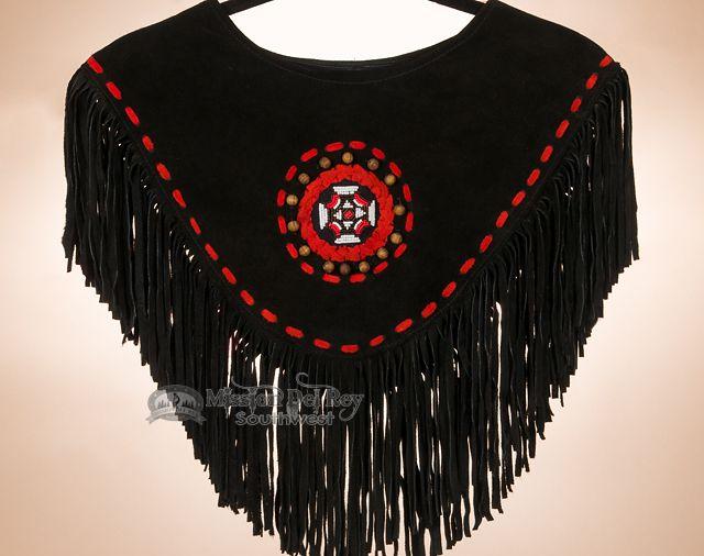 Mission Del Rey Southwest - Classic Native Style Fringed Dance Shirt -Black, $89.95