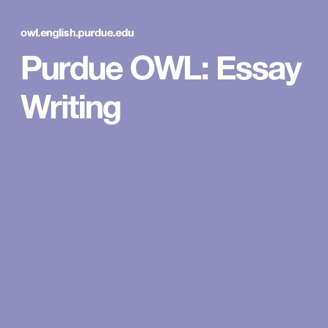 owl english essay writing