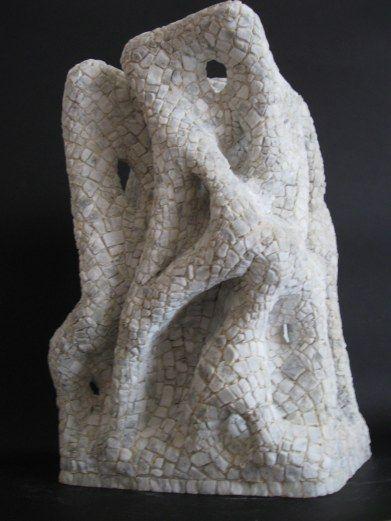 """polimorfeus  24x16 h 34  scultura rivestita in mosaico di marmo  _opera vincitrice  VII° concorso internazionale  """"mosaico oggi"""" bracciano 2013"""