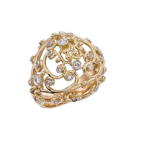 Diamond Jewellers :: 18KT ROSE GOLD BYZANTINE RING