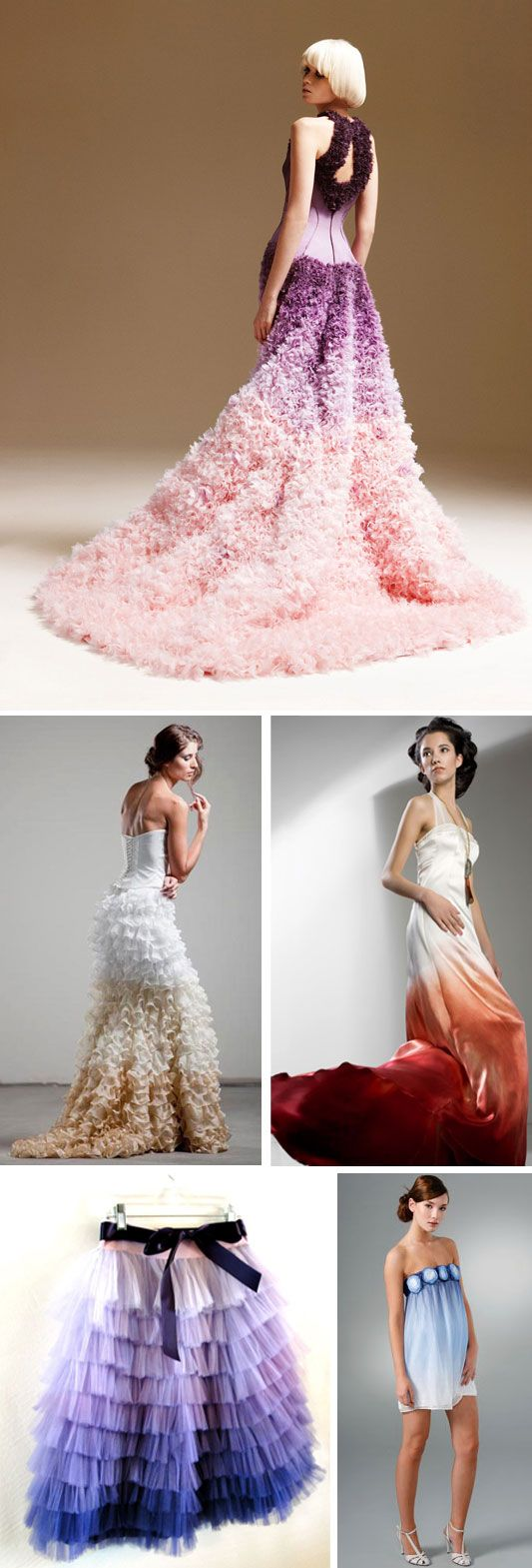17 best images about ombre clothing crafts food i like for Purple ombre wedding dress