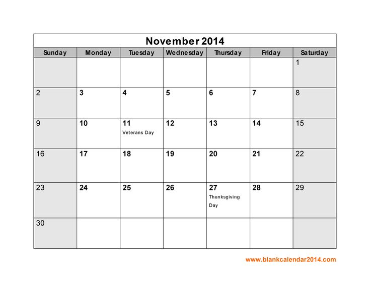30 best november 2014 calendar images on pinterest printable 2015 yearly calendar with us holidays publicscrutiny Images