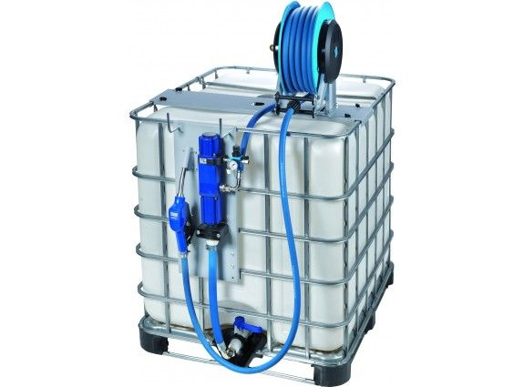 Elite air operated AdBlue pump kit for IBC pods with auto nozzle