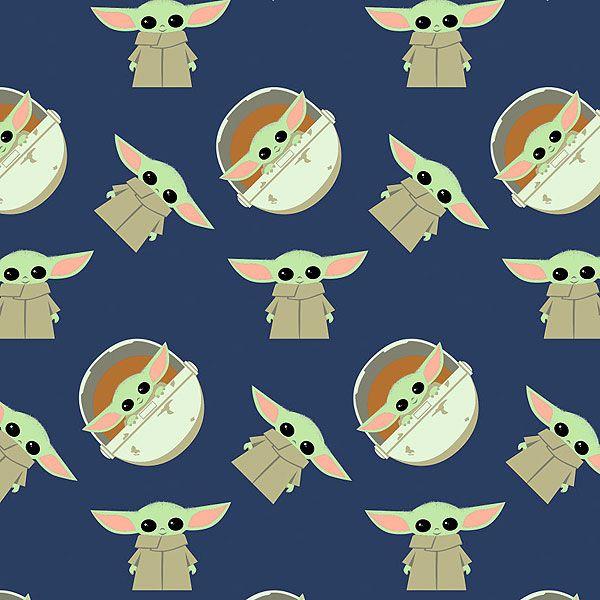 Mandalorian Baby Yoda Adventures Navy Blue Yoda Navy Blue Quilt Star Wars Baby
