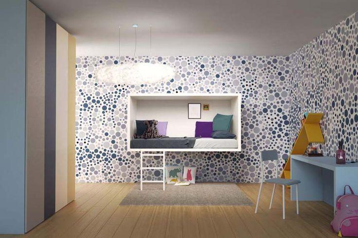 Arredi funzionali ed educativi: LagoLinea Bed e 3Dots Wallpaper, le nuove proposte di Lago per la camera dei ragazzi.