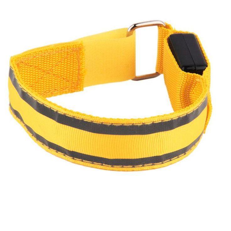 Ultra Angler Arm Warmer Bike LED Armband LED Sports Reflective Belt Strap Snap Wrap Arm Band