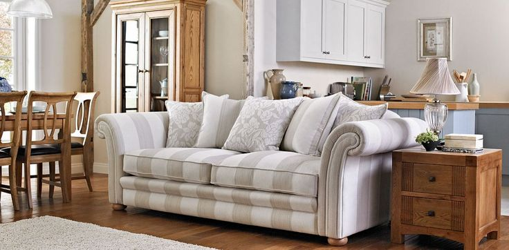 4 seater striped pillow back sofa furniture pinterest for Perez 4 seater pillow back sectional sofa