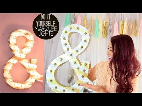 DIY marquee lights to decorate your room