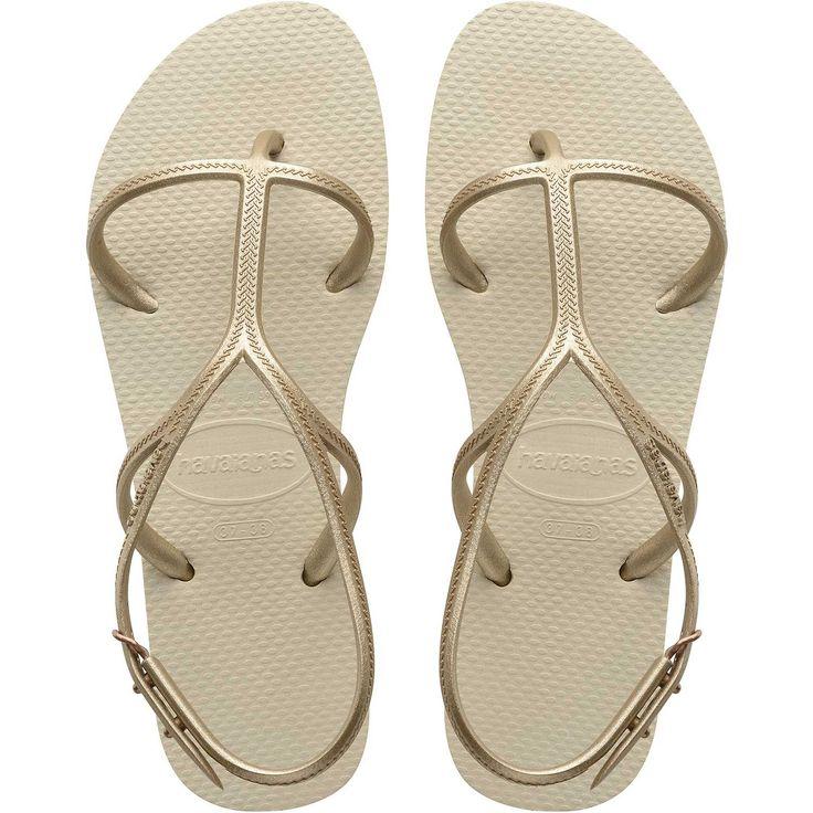 High Fashion, Chanclas para Mujer, Beige (Beige 0121), 43/44 EU (41/42 Brazilian) Havaianas