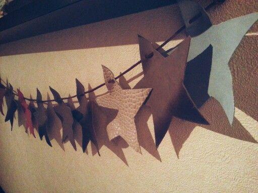 Wimpelkette aus Leder ☆☆☆