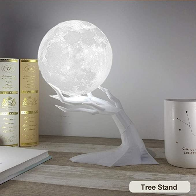 Amazon Com Lightyzr Humidifiers 880ml Large Air Humidifiers Aroma Essential Oil Aroma Diffuser For Home 3d Led Moon Ligh In 2020 Night Light Lamp Cute Room Decor Lamp