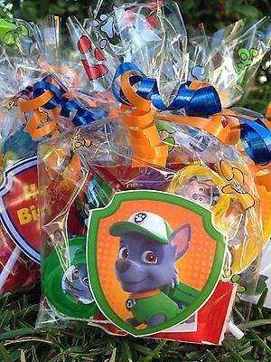 8 filled Nick Jr Paw Patrol Fiesta Sorpresa Regalo Bolsa Cumpleaños Juguetes botín Goody tratar
