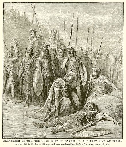 Alexander before the Dead Body of Darius III, the Last King of Persia.