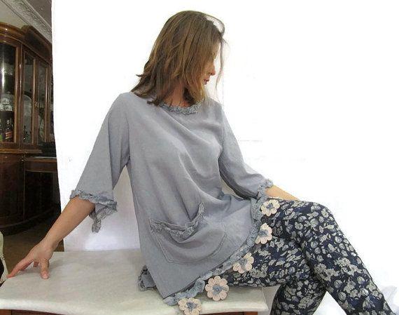 Grey Cotton DressGrey Over Size Tunic DressPlus by angelofanatolia