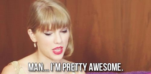 Click here to see Taylor Swift explain why she tries hard to look better than you do after the gym!