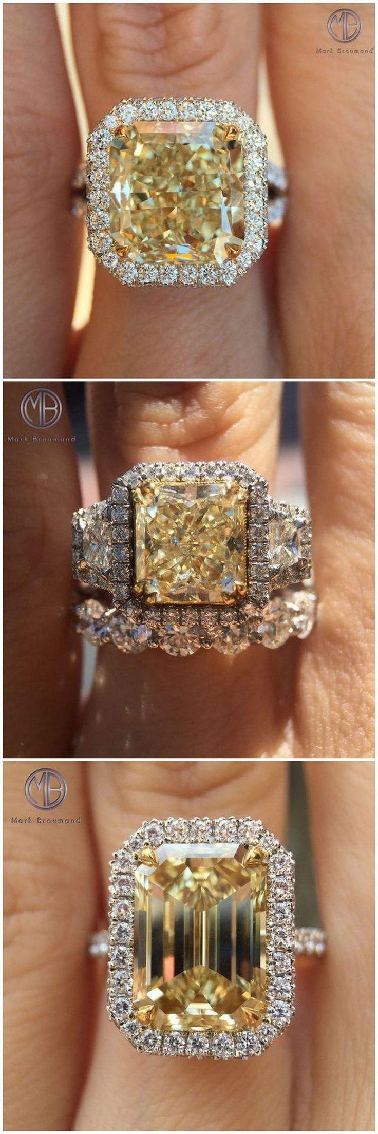 Fancy Yellow Diamond Rings Follow @markbroumand