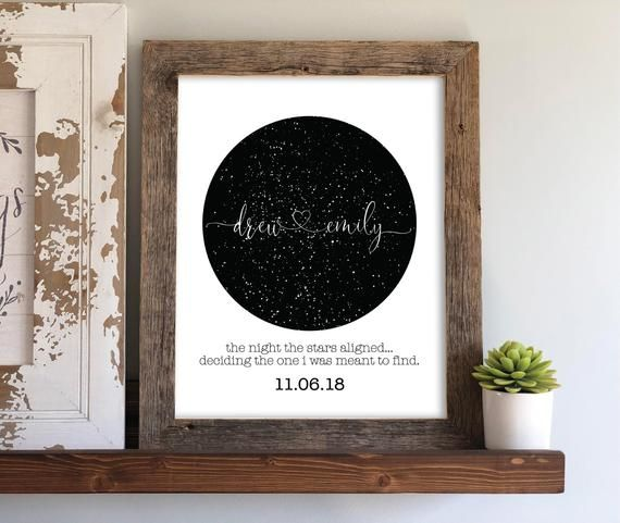 Sky Map Engagement Gift Night Sky Print Personalized Gift Etsy Engagement Gifts For Couples Engagement Gifts Wedding Gifts For Couples