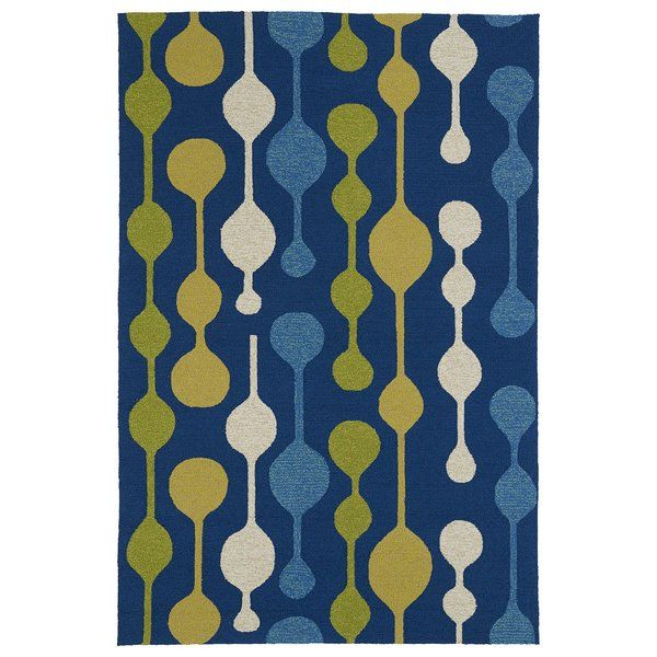 You'll love the Home and Porch Blue Indoor/Outdoor Area Rug at AllModern - With Great Deals on modern Décor + Pillows products and Free Shipping on most stuff, even the big stuff.