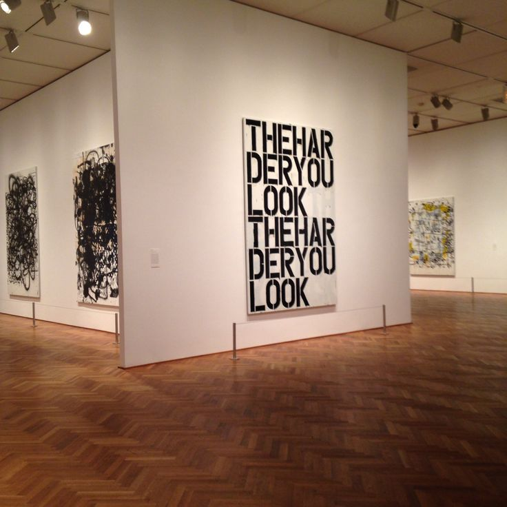 Christopher Wool Neo-conceptual art. Compared to Vernon Ah Kees work because of the no-nonsense, sans serif, Swiss typeface, Helvetica.