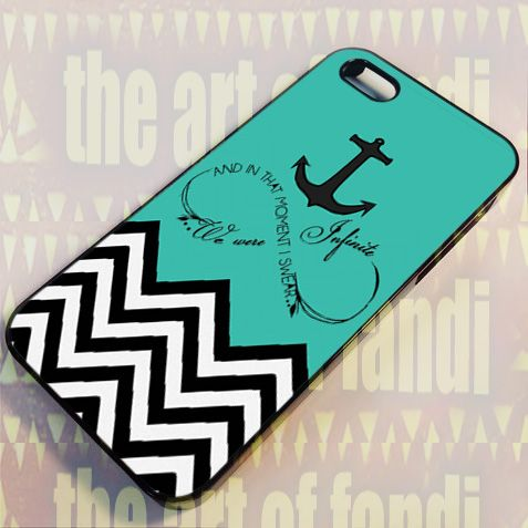 Infinity Dr Deuss Quote Chevron For iPhone 5/5c/5s Black Rubber Case