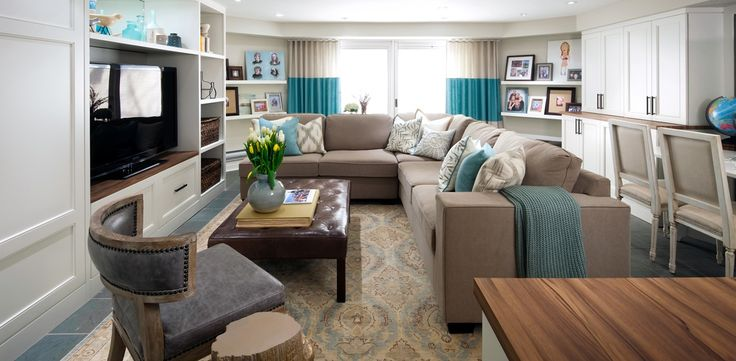 Beachy Paradise Living Room By Candice Olson