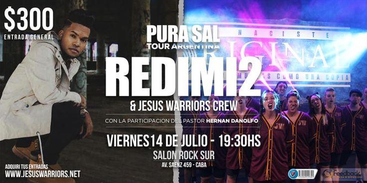 Los Jesus Warriors y el pastor Ale Gómez junto a Redimi2 traen a Buenos Aires una Noche de evangelización Urbana junto al proyecto hijo Pródigo