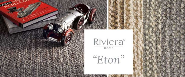 Riviera Carpets Eton. This range is a modern textural design, made by combining natural heather colours to create a stunning striation effect and will look simply stunning in either a broadloom installation or as an area rug.