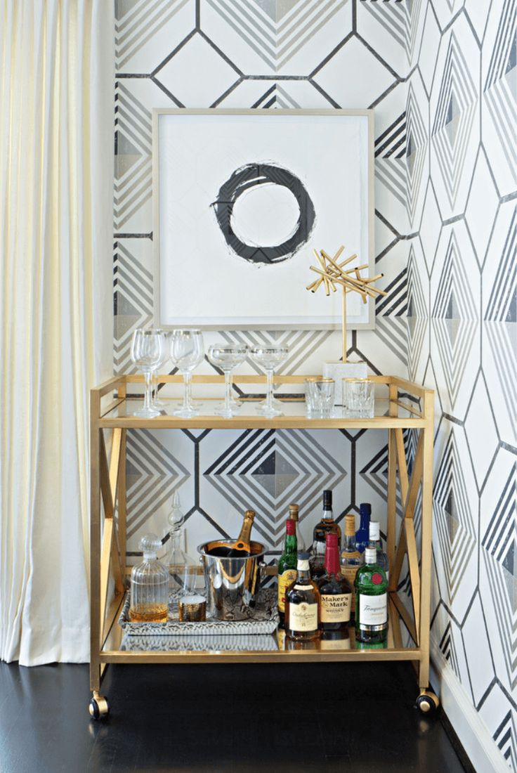 15 must see bar trolley pins drinks trolley bar carts and bar cart styling - Deco bar design ...