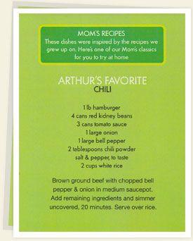 alma wahlberg red sauce recipe | Arthur's Favorite: Chili