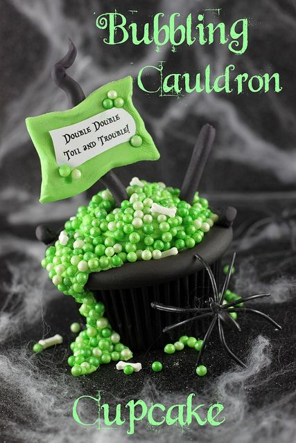 Bubbling Cauldron Cupcake