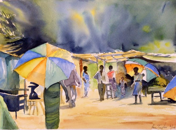 African Market (after Hazel Soan)