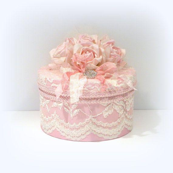 Boîte Chic minable boîte Chic minable rose par uniqueboxboutique