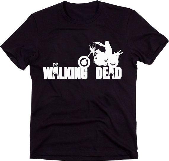 Zombie tshirt,The Walking Dead T-shirt,Angel Wings,Daryl Dixon shirt,Walking Dead Shirt,Zombie Shirt