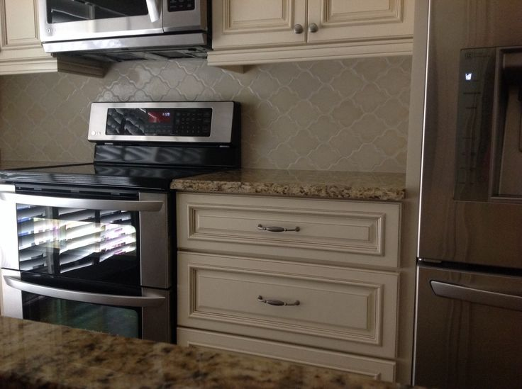 Almond Formica Kitchen Cabinets