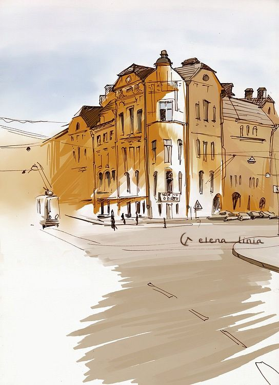 my illustration in sketchbook, Saint-Petersburg. https://illustrators.ru/users/elena-suhacheva #sketch #illustration #saintpetersburg
