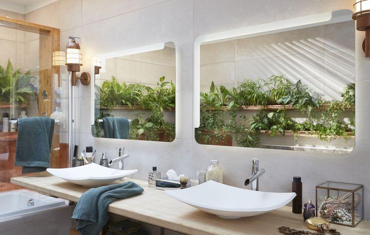216 best salle de bains images on pinterest merlin - Fenetre salle de bain leroy merlin ...