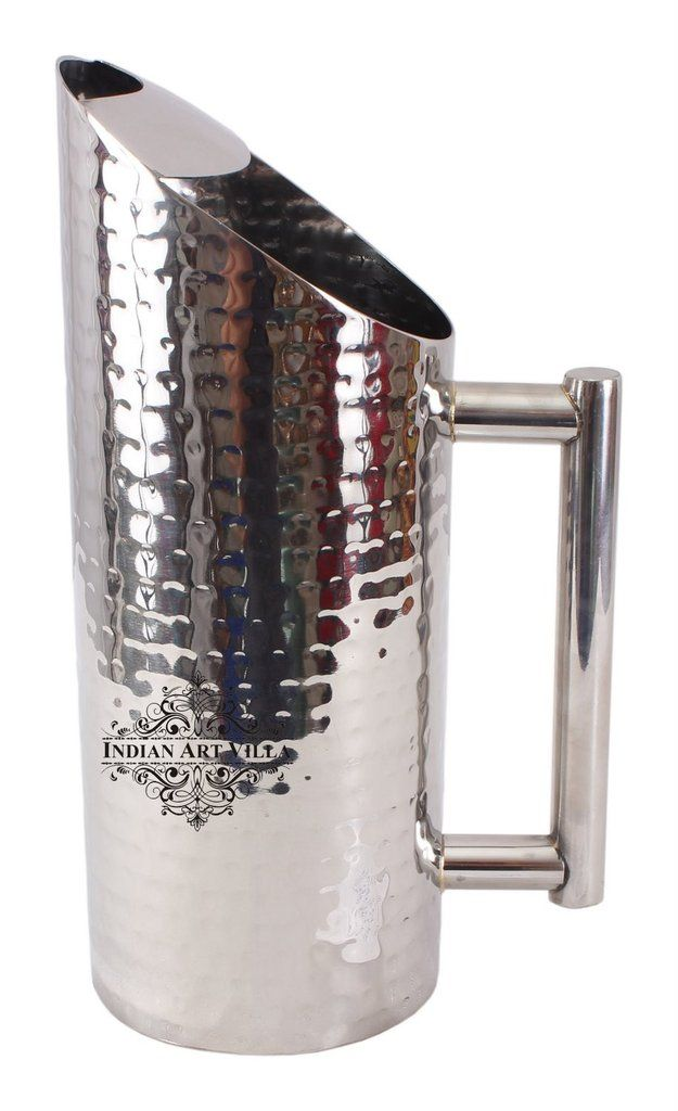 Steel Hammer Jug Pitcher|Serving Storage Water|Hotel Restaurant|Volume 1500 ML