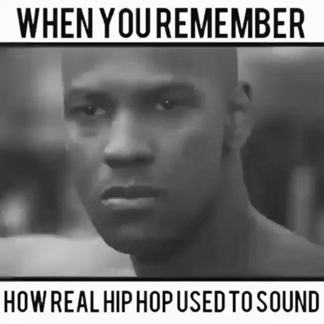 "This so called ""hip-hop"" these days is TRASH! #realhiphop #hiphop #music #glory #denzelwashington #denzel #meme"
