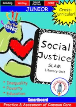 Prep students for testing while challenging them to think critically about a variety of social justice topics. The only prep is locating a few books in your library!  Everything else you need is included!  Print and teach!  Smartboard and PDF downloads available.