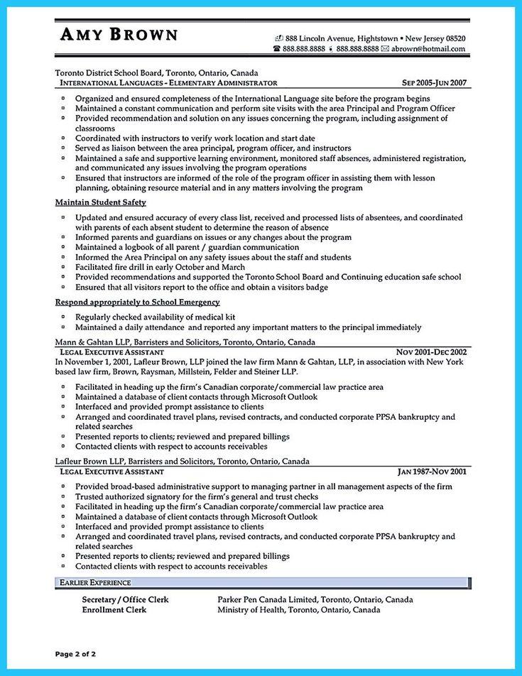 nice Professional Administrative Resume Sample to Make You Get the Job,