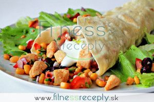Zdravé fitness recepty - Tortilly plnené kuracím mäsom