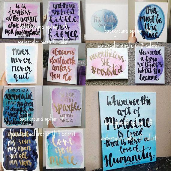Custom Quote Canvas Custom Wall Art Custom Quote Sign Custom Quote Canvas Canvas Quotes Custom Canvas