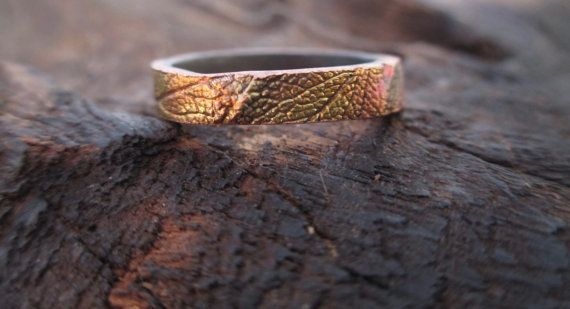 Layered Sage Leaf Ring Real Leaf Jewelry Steel by KemeJewellery